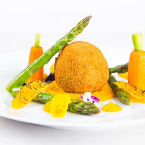Confit Duck Leg Bonbons with Carrot