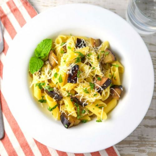 Penne with Eggplant and Mint