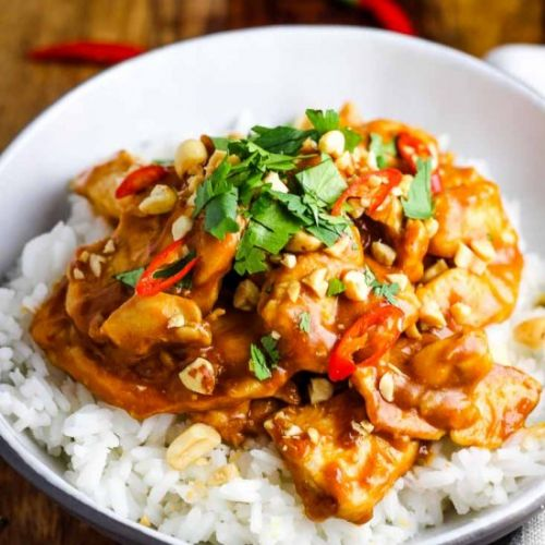 Chicken Satay Rice Bowls