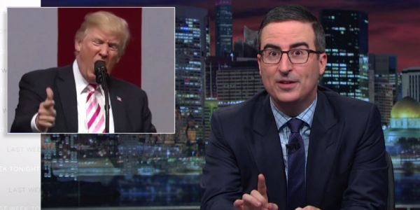 John Oliver mocked Trump for his controversial comments on NFL player protests