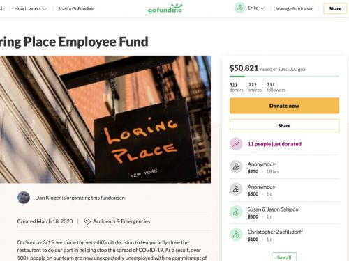 Restaurants Are Struggling to Withdraw Thousands of Dollars from GoFundMe