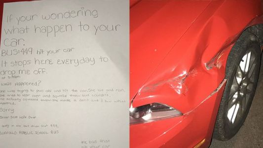 'Very grateful': Middle school student's note to car owner goes viral