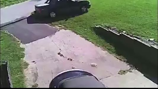Parents outraged after security video shows a truck driving through a yard to pass a school bus