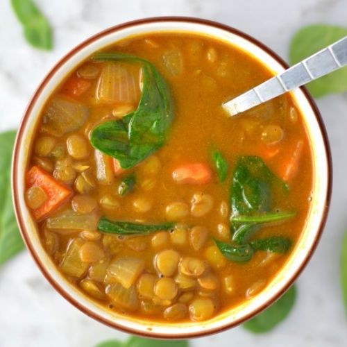 Vegan Coconut Curry Lentil Soup