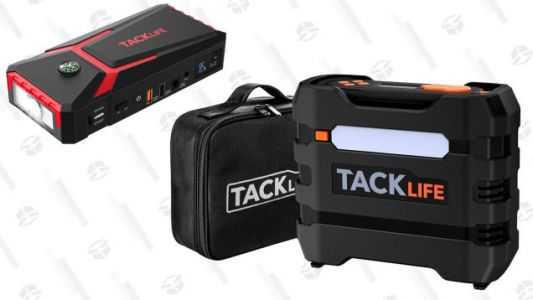 Be Prepared for Anything With Tacklife's Car Charger and Tire Inflator for a Total of $70