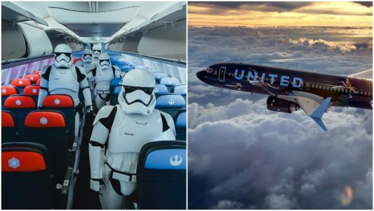You can now book a flight on United's new 'Star Wars'-themed Boeing 737 plane - here's what it's like inside