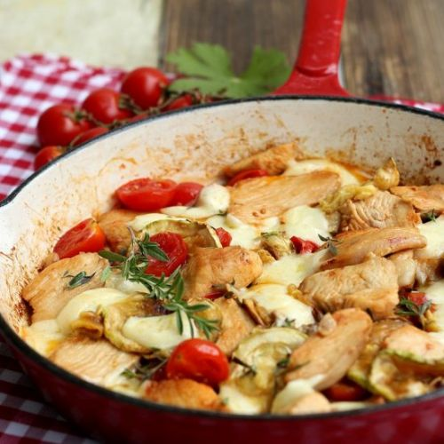 Chicken breasts with cherry tomato