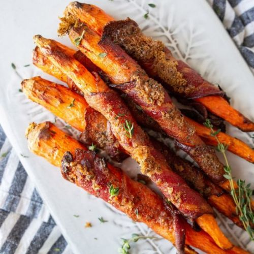 Air Fryer Bacon Wrapped Carrots