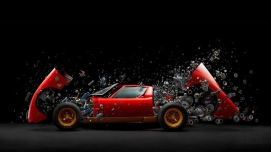 This Photo of an Exploding Lamborghini Will Blow Your Mind