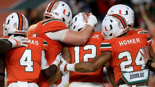 College Football Playoff Rankings: Miami jumps Clemson to take No. 2 spot