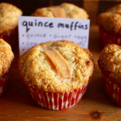Quince and polenta muffins
