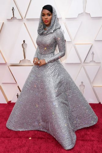Janelle Monae's Dramatic Oscars Look Is Basically a Disco Ball for the Red Carpet
