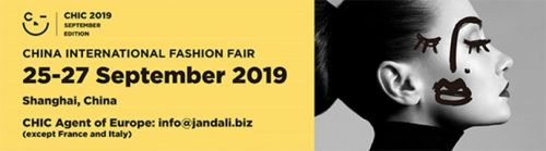 CHIC Shanghai: September 25-27, 2019