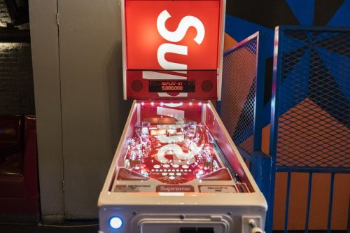 Here's a Closer Look at the Supreme/Stern Pinball Machine