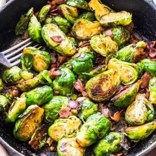 Keto Brussels Sprouts & Bacon