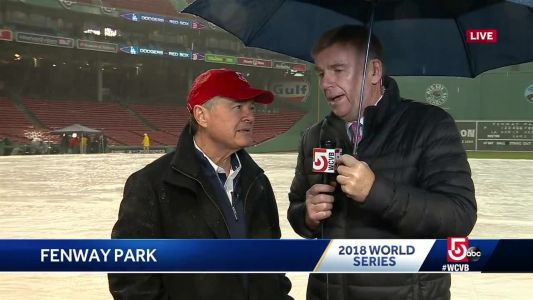 Storm interrupts warm-ups ahead of World Series Game 1
