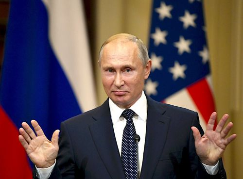 Putin did not specifically deny he has 'compromising material' on Trump