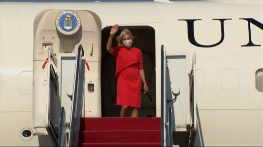 Jill Biden lands in Japan for Olympic opening ceremony