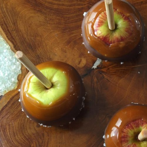Chocolate Sea Salt Caramel Apples