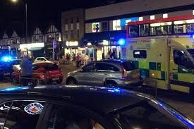 Three shot on busy North West London Street near to Kingsbury Tube station