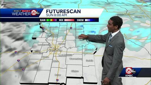 Light snow, sleet move in for Saturday night