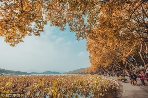 Autumn scenery of West Lake in Hangzhou