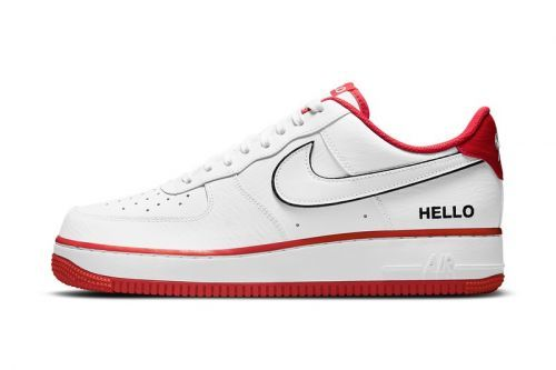 """Nike Air Force 1 Low """"Hello My Name Is"""" Arrives in """"White/University Red"""""""