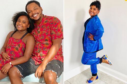 Meet the single dad who sews stunning outfits for his daughter