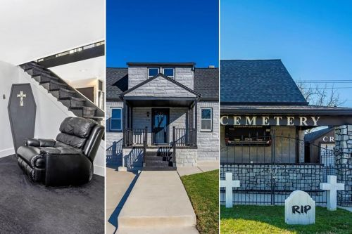 Creepy 'coffin house' with goth death decor is to die for at $225K