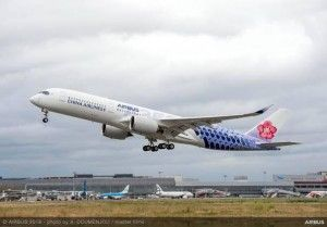 Airbus and China Airlines present A350-900 with special joint livery
