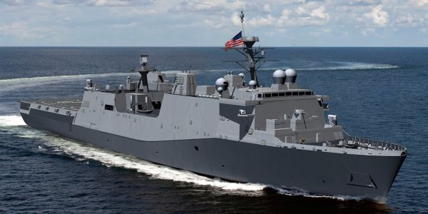 The Navy wants to speed up delivery of a new amphibious assault ship
