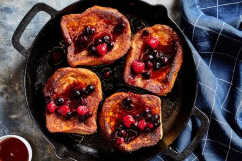 Caramelized French Toast with a Berry Compote
