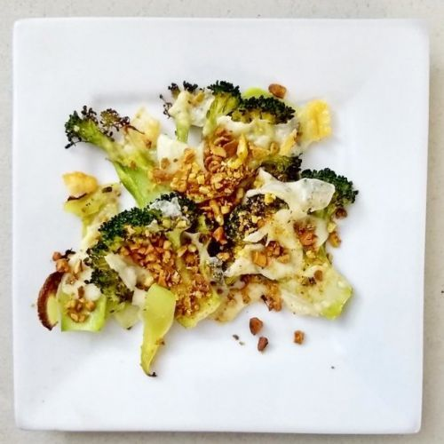 Broccoli with Cheese and Nuts