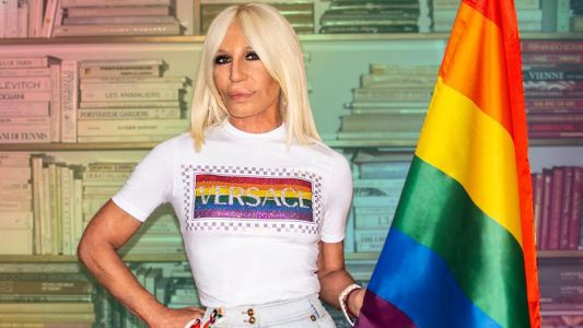 Donatella Versace is the newest ambassador for Stonewall
