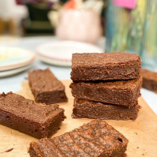 Vegan Rye Chocolate Brownies
