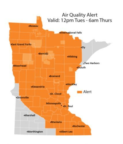 Smoke From Canadian Wildfires Prompts Air Quality Alerts Across Minnesota