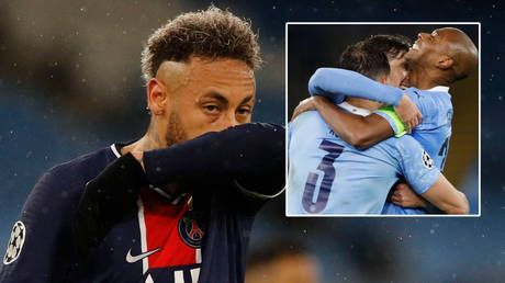 Neymar fails to score for a seventh Champions League knockout game as PSG crash out - and fans claim his next could be with Messi