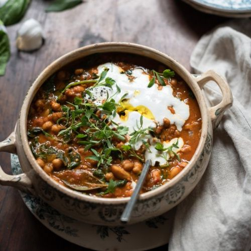 Ginger and Turmeric chickpea stew