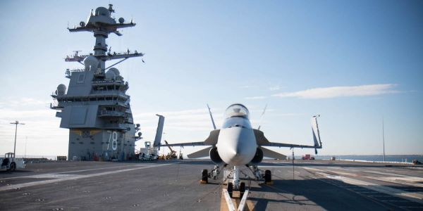 We toured the USS Gerald R. Ford, the world's largest aircraft carrier, which can house 75 aircraft
