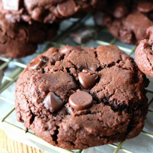 Double Chocolate Drop Cookies
