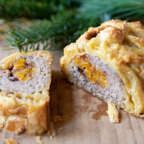 Meatloaf with sweet dry fruits