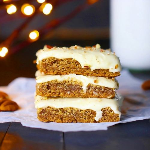 Cinnamon Spice Bars w/ Ginger Icing