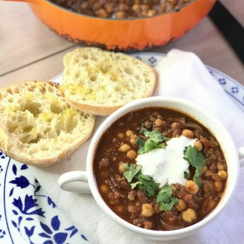SPICED MOROCCAN LENTIL & CHICKPEA S