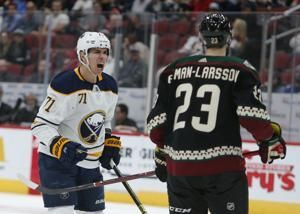 Top pick Dahlin scores first goal, Sabres beat Coyotes 3-0