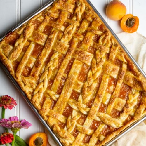 Apricot and Peach Slab Pie