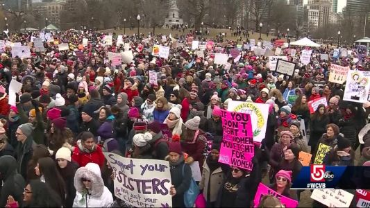 Women's March held in Boston Common, with different tone