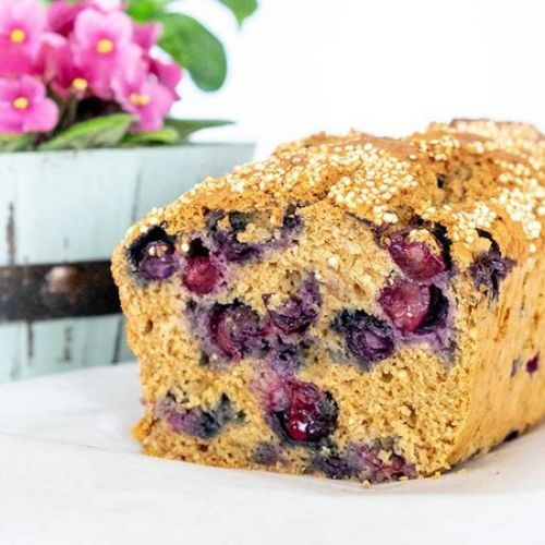 Easy GF Quinoa Blueberry Bread