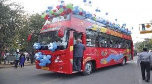 To promote Delhi tourism in India open roof bus will be the next attraction