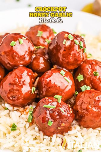 Crockpot Honey Garlic Meatballs