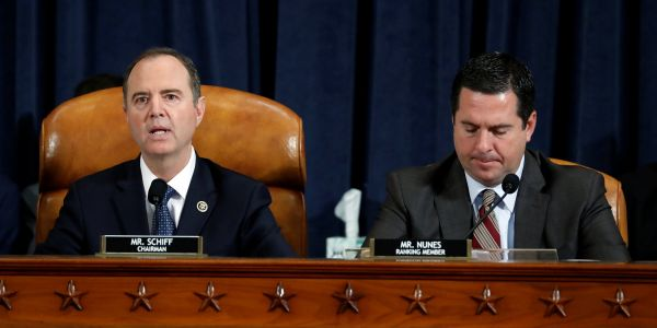 Devin Nunes used all of his time in the impeachment hearing to try to out the Ukraine whistleblower